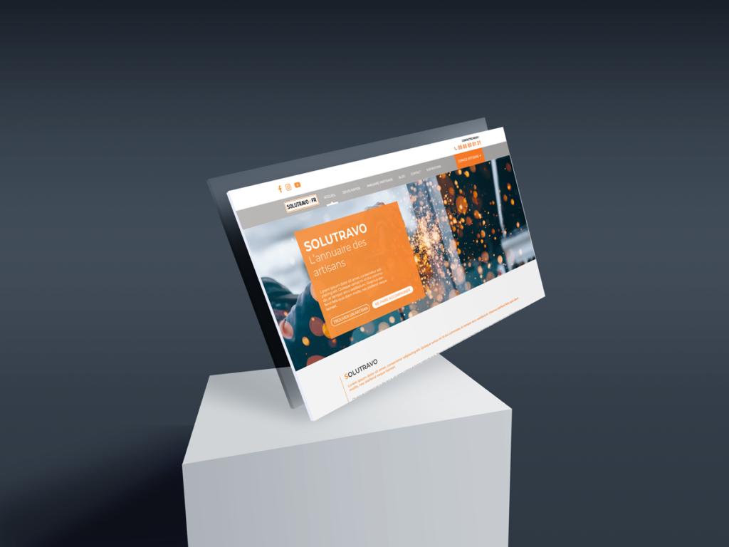 Minim Solutravo - Maquette Web