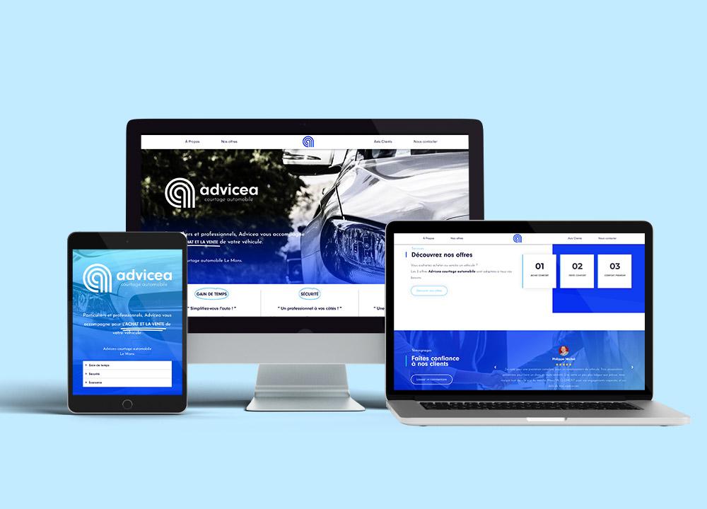 Réalisation Branding / Web & Digital / Graphisme - Advicea